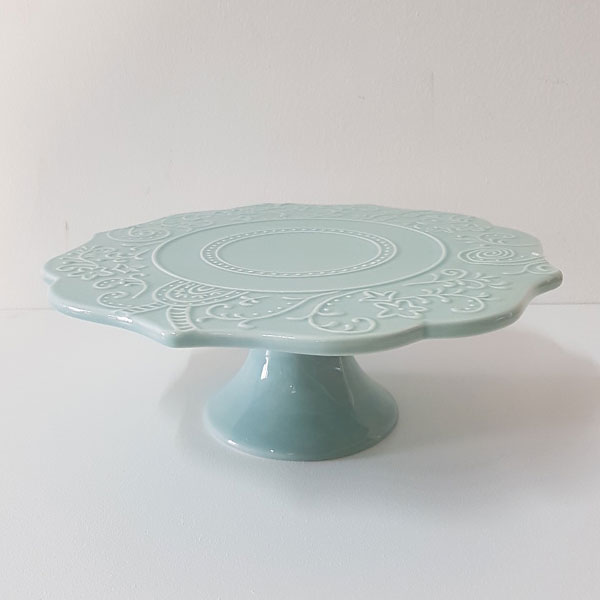 Embossed Floral Cake Stand - <p style='text-align: center;'>R 75</p>