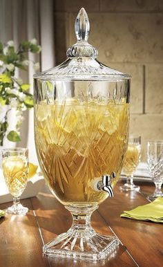 Crystal Cut Beverage Dispenser for Hire in Cape Town
