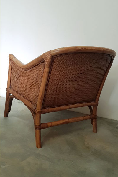Wicker & Linen Armchair for Hire in Cape Town