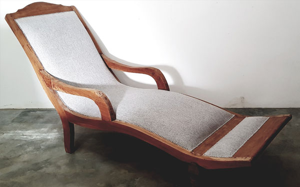 English Oak Lounger for Hire in Cape Town