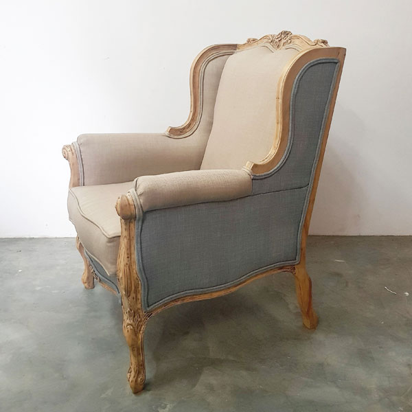 Two Shades French Arm Chair for Hire in Cape Town