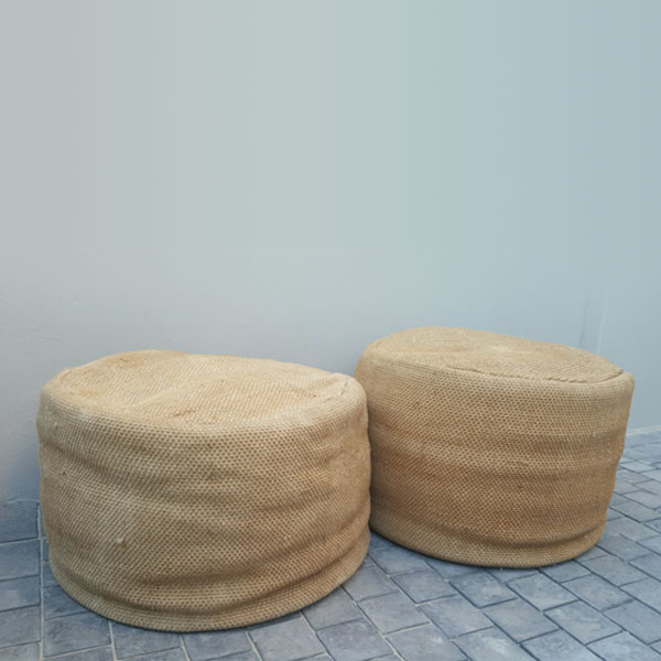 Hessian Ottoman - <p style='text-align: center;'>R 100</p>