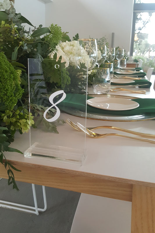 Table Seating Numbers for Hire in Cape Town