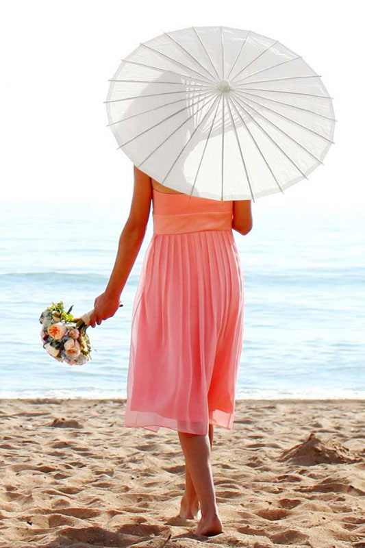 White Parasol for Hire in Cape Town