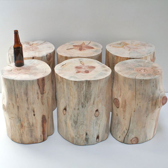 Tree Trunk Stool for Hire in Cape Town